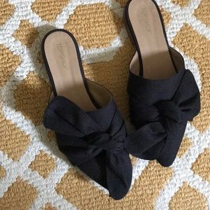 Topshop knotted bow flats